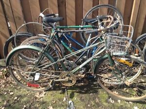 Road and cruiser bikes for parts ($30 each)