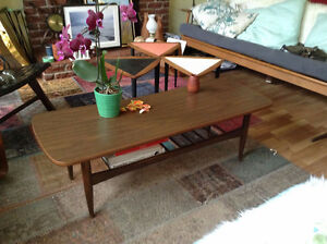 SOLD PPU Cool retro two tier coffee table mid-century design!
