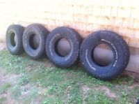 Set of 4 BF mud terrains 33x10.5R15