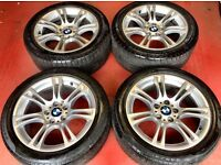 """BMW F10 18"""" alloys with tyres"""