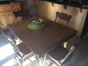 Antique dining table and chairs  London Ontario image 1