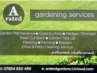 A Rated Gardening Services, Garden Maintenance, Gardener 07834 830 489