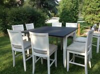 Pub style dining set with 9 chairs