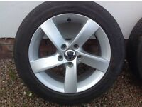 "16"" VW (2013) GOLF NEW TYPE (5 SPOKE) ALLOYS PCD 5X112"