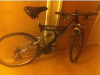 Job lot- Two bikes: one Harlem USA flair mountain bike and one X-rated mountain bike dirt jumper