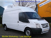 2008/ 58 Ford Transit 110 T330L High roof [ Workshop Racking ] Low Mileage