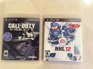 Call of Duty Ghosts & NHL12 PS3 Games