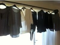 9 tops for sale (long sleeve size 14)please read ad)