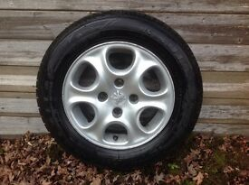 Peugeot 306 complete alloy & tyre x 4