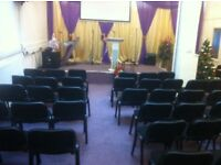 Church Hall For Rent sitting space of 85 PA equipment well presentable 1 miles to city centre