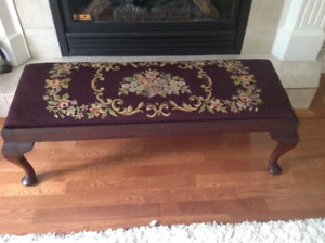 Antique Fireside Bench