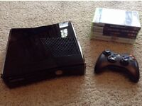 XBOX 360 Slim 250GB Console with 6 games