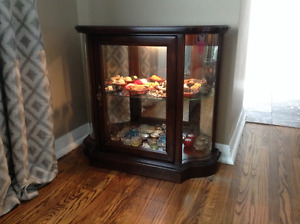 Curio Cabinet with curved glass