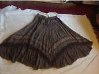 Size 18 cotton skirt Used Brown Colour £4