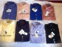 Ralph Lauren men's polo oxford smart shirt small pony long sleeves 20cotton