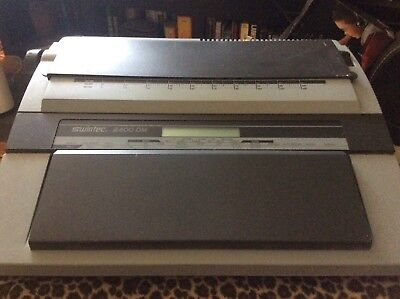 Vintage Swintec 2400dm Electric Typewriter In Working Order