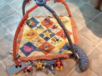 Infant playmat with toys