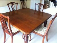 Antique mahogany dining room table
