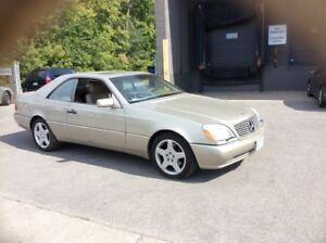 Mint condition low km Mercedes S-500 V8 rare 2 door coupe