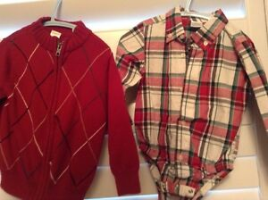 Boys sweater and bottom shirt