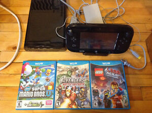 Wii U 32GB and  3 games