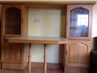Hardwood kitchen with sink and gas cooker/extractor fan