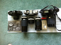 35mm Canon cameras, lenses and filters