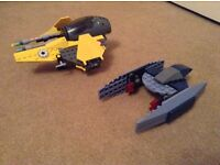 Lego Star Wars 7256 Jedi starfighter and vulture droid