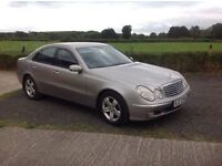 2004 Mercedes E320 CDI Elegance motd February 17 good condition inside and out full black leather