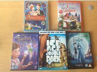 Kids dvds x6 + boxset