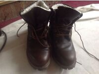 Timberland boots leather brown size: 7 used £20