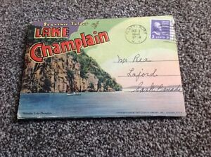 Lake Champlain folder of pictures from 1948