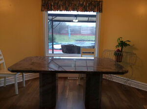 Solid Granite Kitchen Table