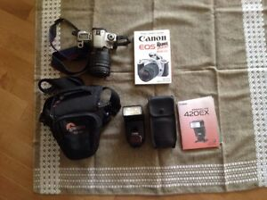 Canon Rebel 2000, 28-200mm lens and flash