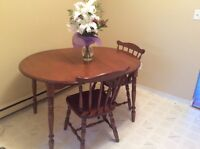 Good quality maple dining set with 4 chairs