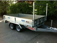 Dale Kane flatbed trailer 8 x 5,6 dropside builders trailer