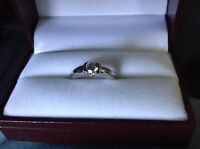 Lady's Engagement Ring with .42 ct. Brilliant Diamond