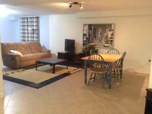 Large one bedroom basement apartment. Perfect for military on IR