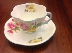 Shelley Begonia Teacup and Saucer - Dainty Shape
