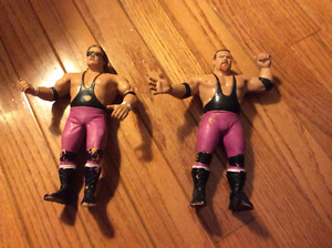 Wrestling figures old 80's rubber Hart Foundation