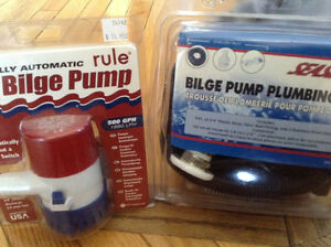 Bilge pump and bilge pump pluming kit