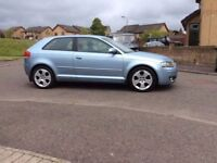 AUDI A3 1.9TDI Sport 2005 ,Full Black Leather , 99k miles , digital Climate control A/C
