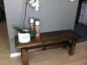 SOLID WOOD rustic BENCH - home decor