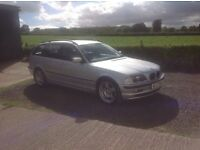 2001 BMW 320 I SE silver Estate Automatic low miles 75.000 full service history full black leather