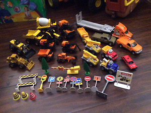 Assorted construction equipment playset