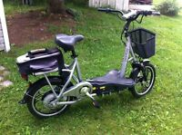 Trade e-bike, 3 wheel trike and challenger bike for scooter