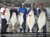 Best Salmon and Halibut locations on Vancouver Island BC