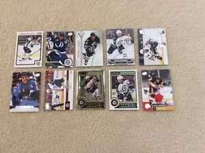Winnipeg Jets Dustin Byfuglien hockey card lot X2.