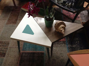 Unique vintage/retro modular tables - great mid century design!