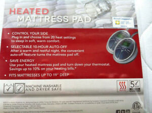 *New* Queen Sized Heated Waterproof Mattress Pad